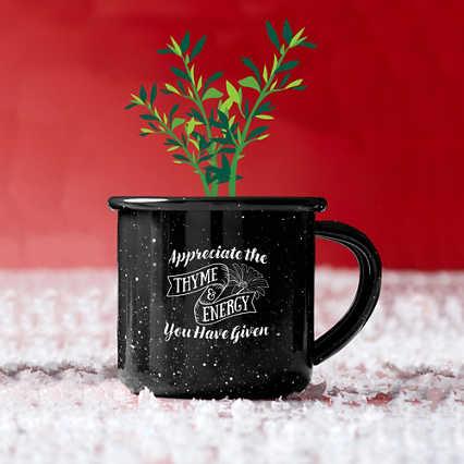 Mini Classic Campfire Mug Planters - Thyme and Energy