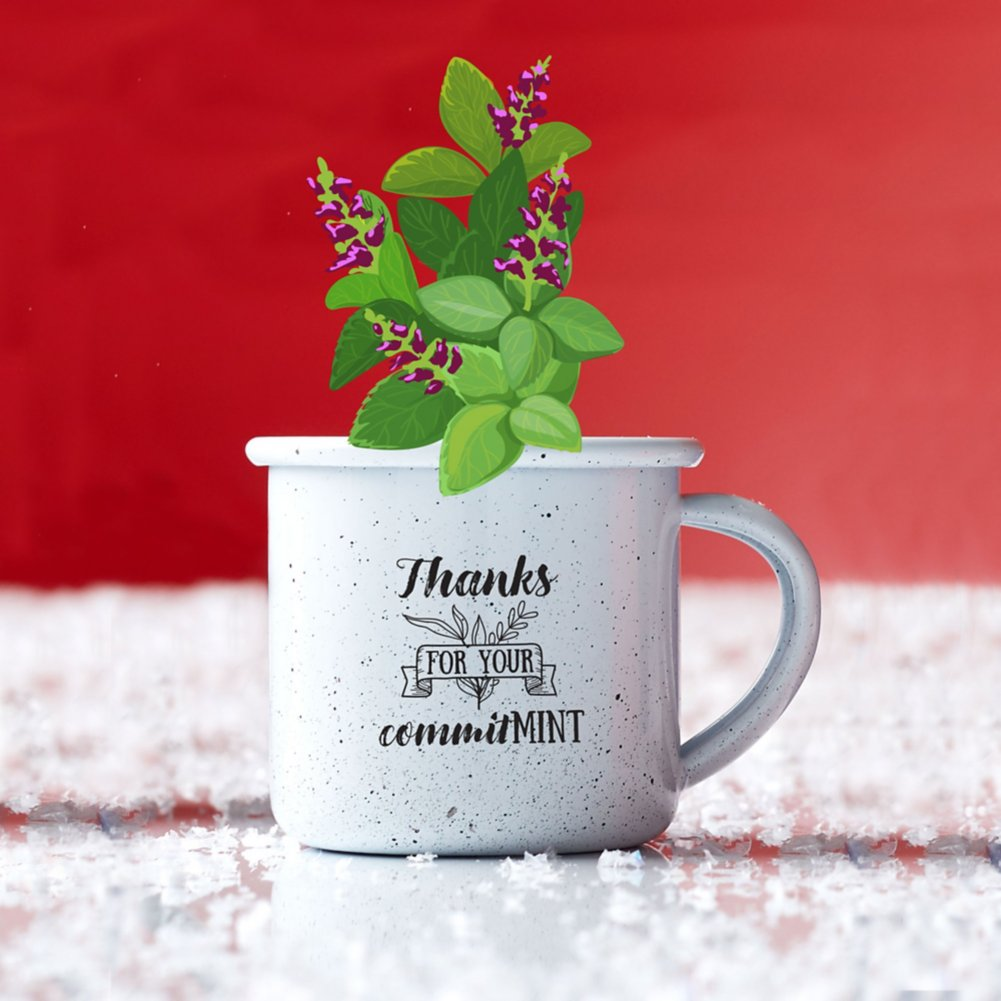 View larger image of Mini Classic Campfire Mug Planters - Thanks for Your CommitMint