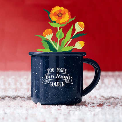 Mini Classic Campfire Mug Planters - You Make Our Team Golden