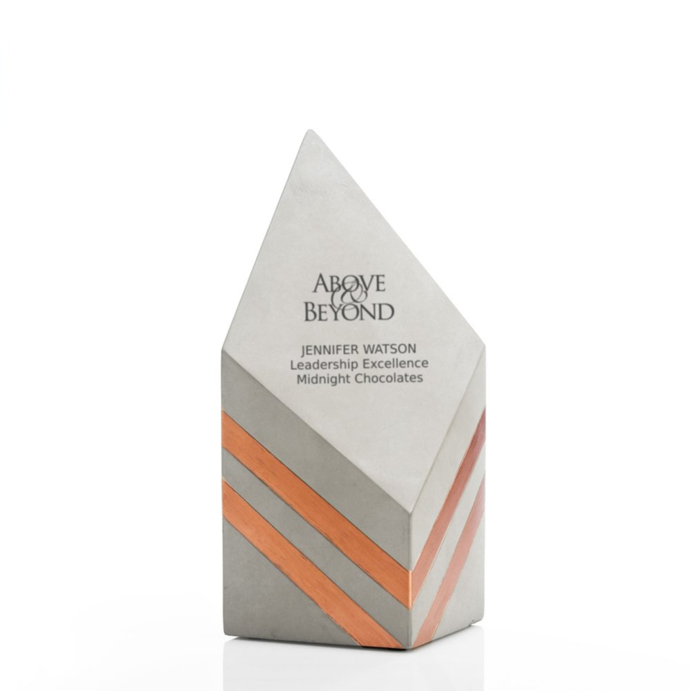 View larger image of Concrete Modern Award - Copper Diamond