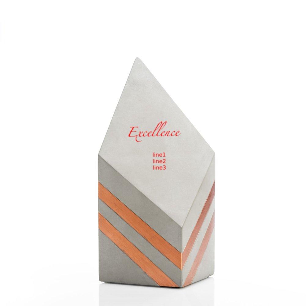 Concrete Modern Award - Copper Diamond