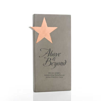 Concrete Modern Award - Copper Star