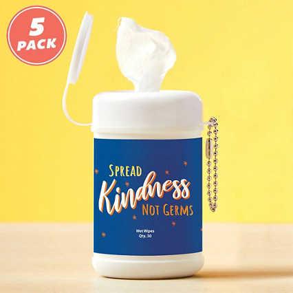 Carry On Sanitizing Wipe Keychain - 5pk - Spread Kindness