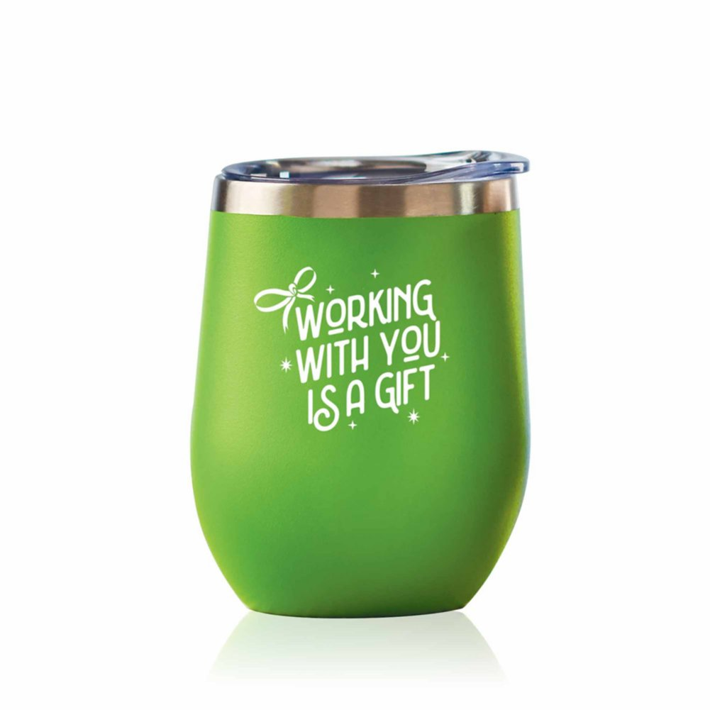 View larger image of Bright Spirits Beverage Tumbler - Working with You is a Gift