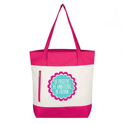 Value Boat Tote - Be Positive. Be Ambitious. Be Driven.