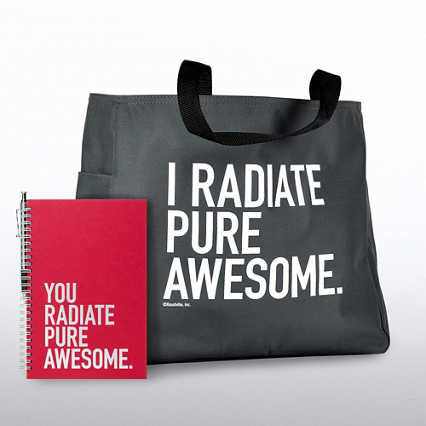 Journal, Pen & Tote Gift Set - You Radiate Pure Awesome
