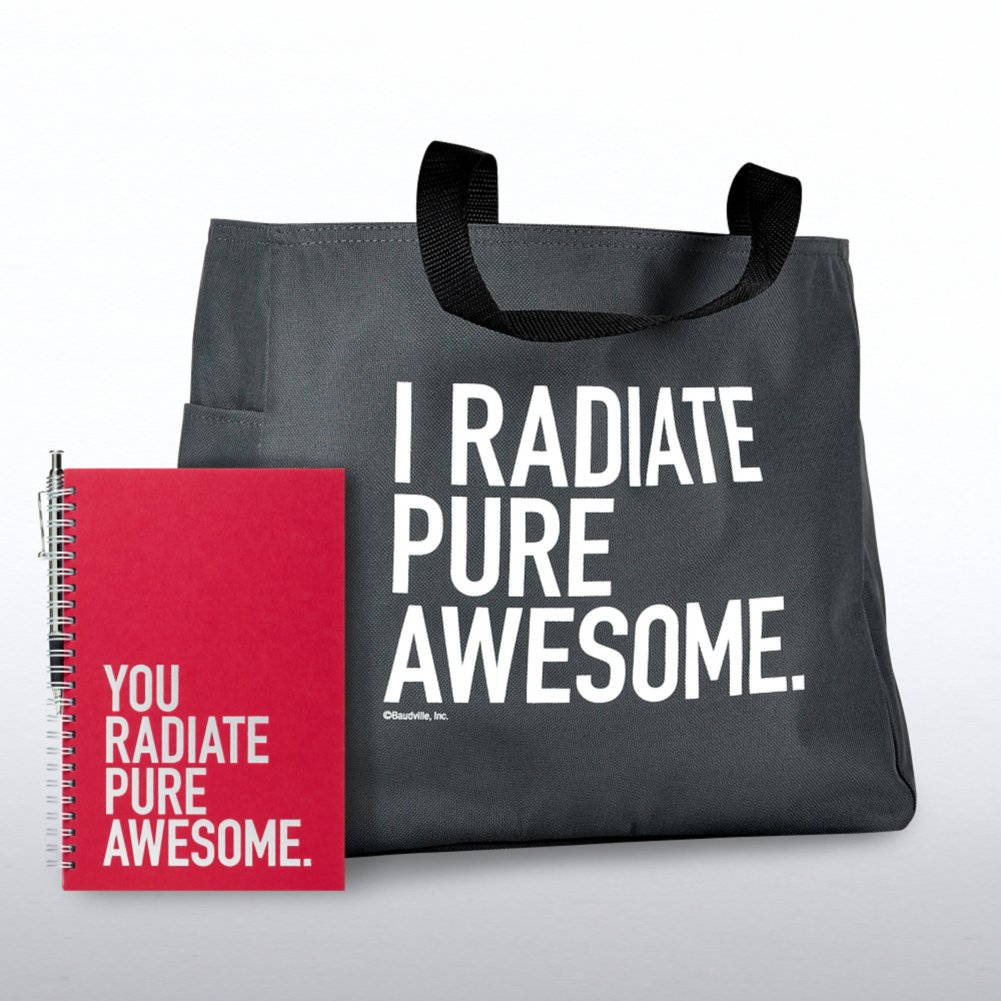 View larger image of Journal, Pen & Tote Gift Set - You Radiate Pure Awesome