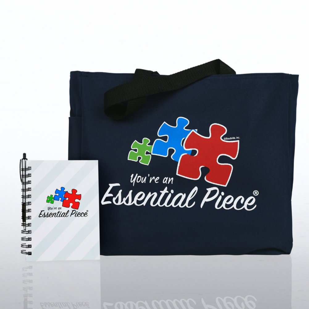 View larger image of Journal, Pen & Tote Gift Set - Contemporary Essential Piece