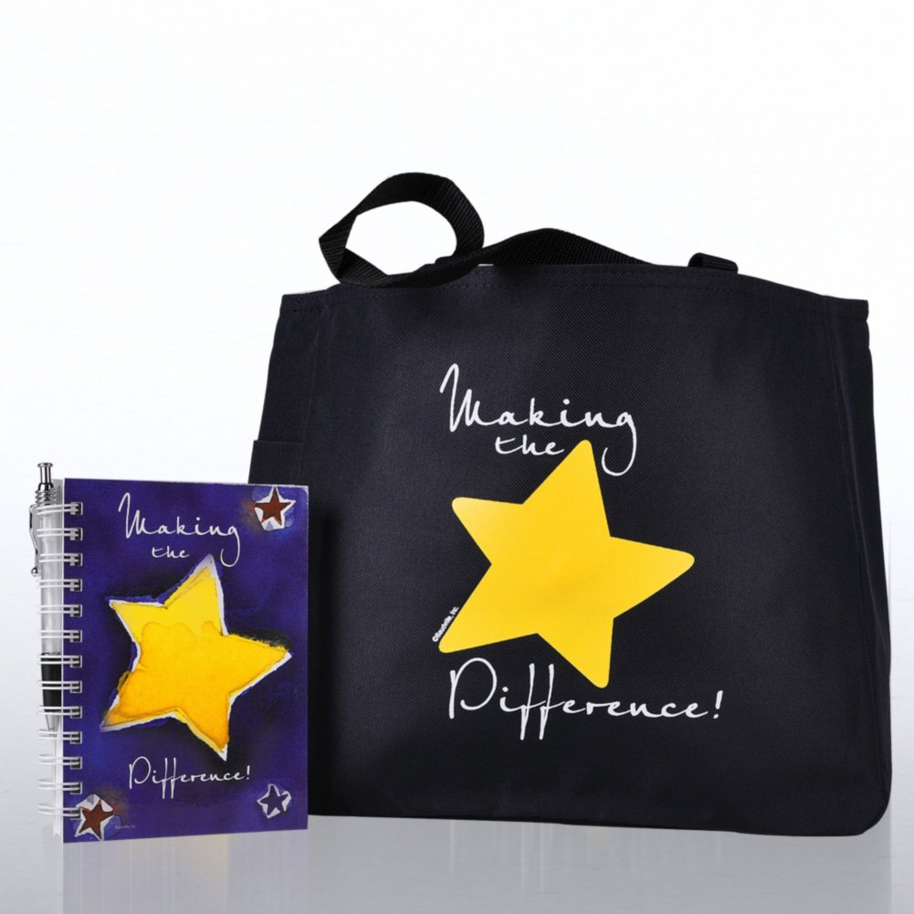 View larger image of Journal, Pen & Tote Gift Set - Making the Difference