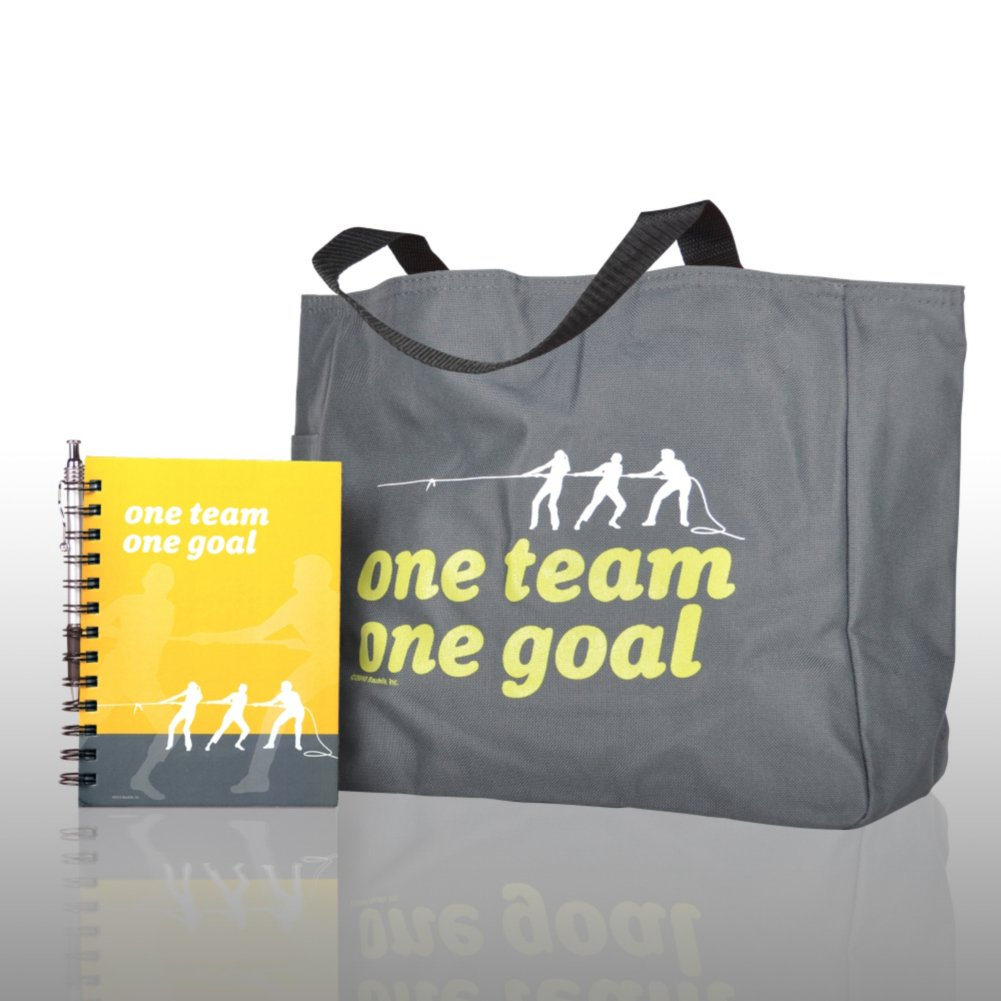 View larger image of Journal, Pen, & Tote Gift Set - One Team, One Goal