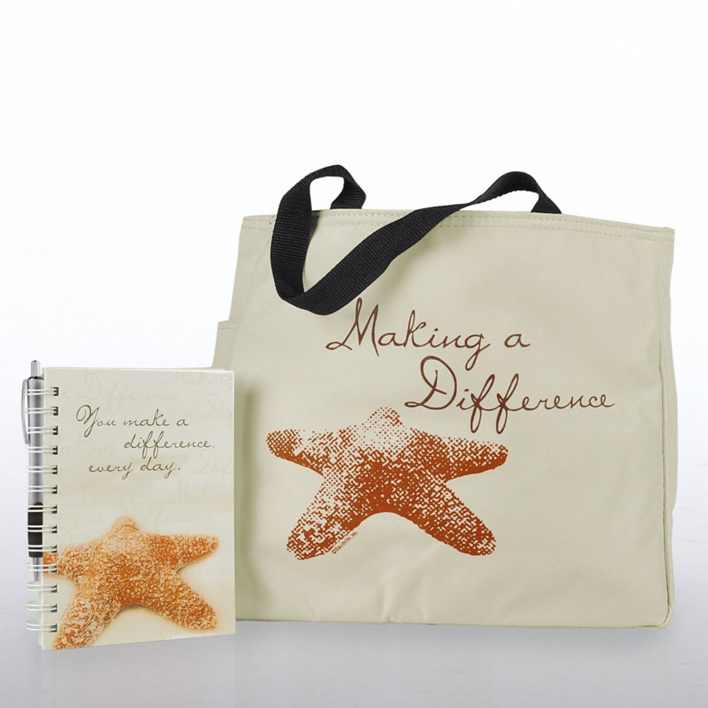 View larger image of Journal, Pen & Tote Gift Set - Starfish: Making a Difference