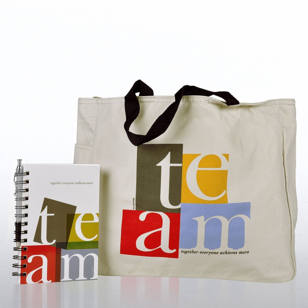 View larger image of Journal, Pen & Tote Gift Set - TEAM