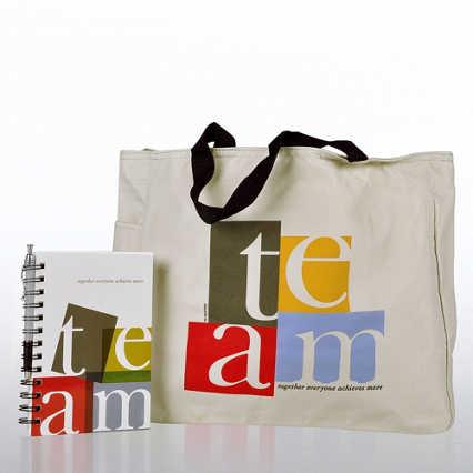 Journal, Pen & Tote Gift Set - TEAM