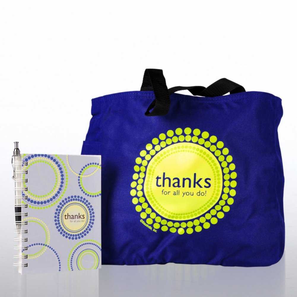 View larger image of Journal, Pen & Tote Gift Set - Thanks for All You Do!