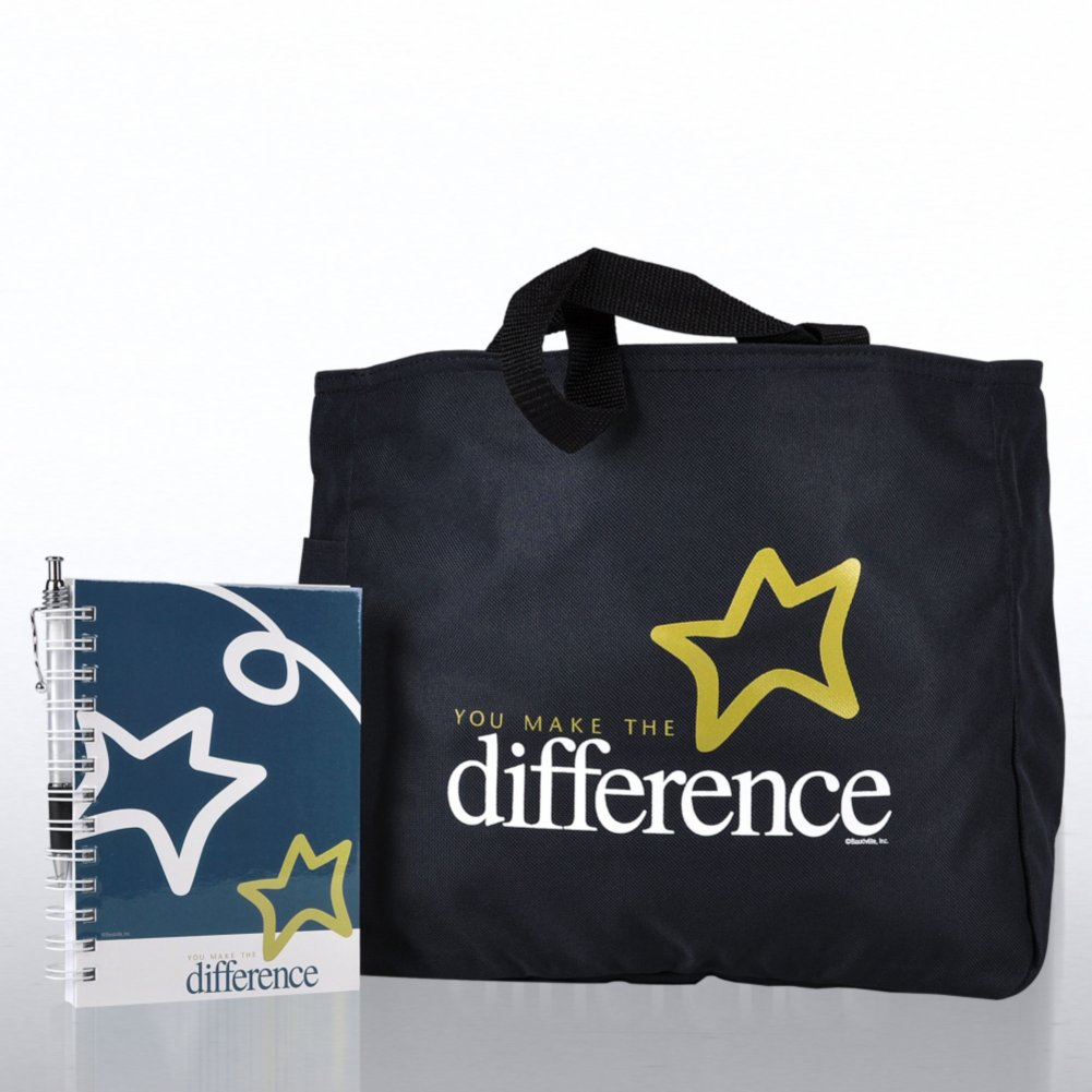 View larger image of Journal, Pen & Tote Gift Set - You Make the Difference