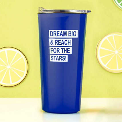 Road Trip Travel Mug - Dream Big - Royal Blue