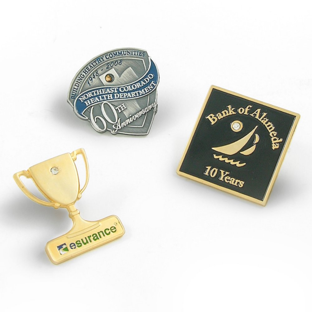 View larger image of Custom Lapel Pin - Add a Gem