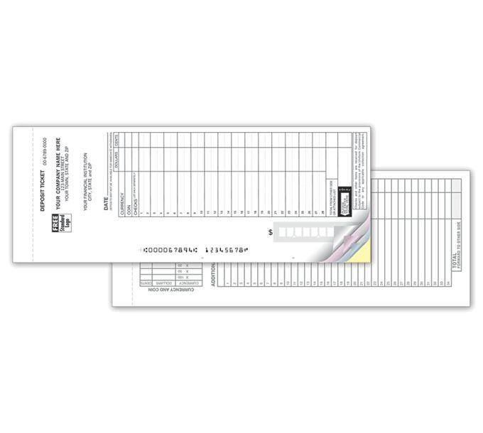 100017-Loose Deposit Ticket Sets - Maximum Entry Format100017