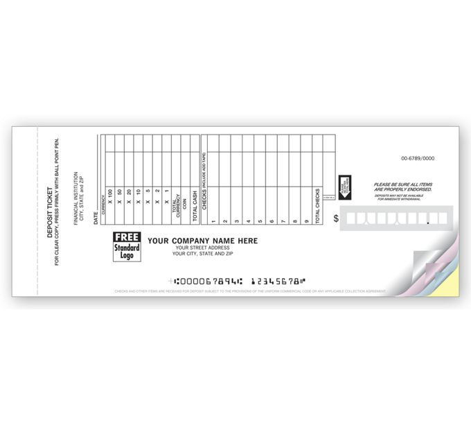 100059-Booked Deposit Tickets - Retail Format100059