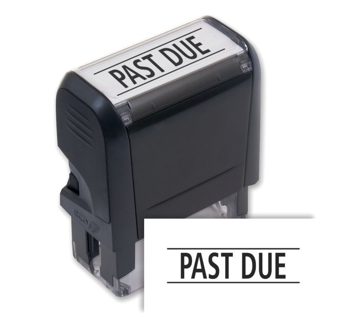 103001-Past Due Stamp - Self-Inking103001