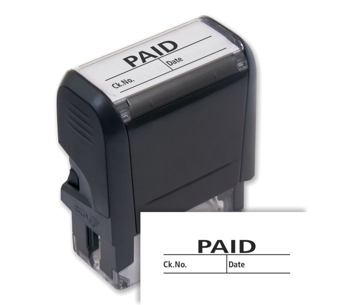 103006-Paid w/ boxes Stamp - Self-Inking103006