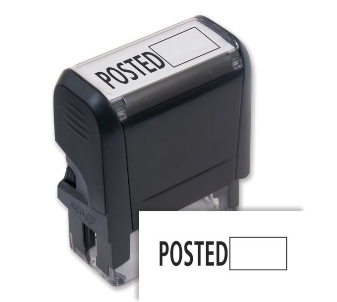 103009-Posted w/ Open Box Stamp - Self-Inking103009