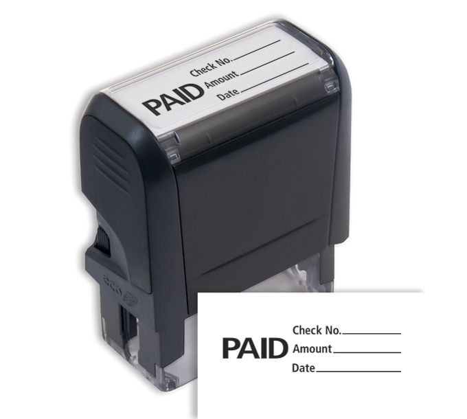 Paid w/ lines Stamp - Self-Inking103010