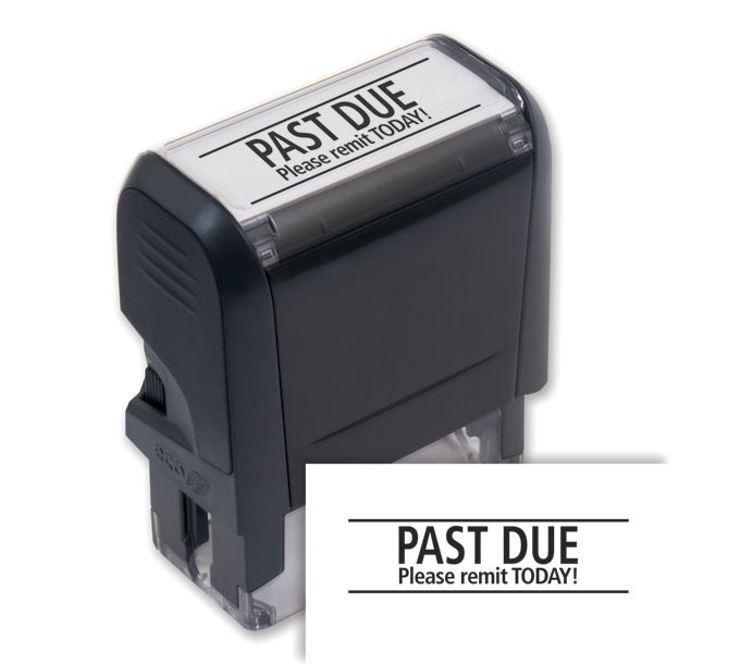 103014-Past Due Please Remit Today! Stamp - Self-Inking103014
