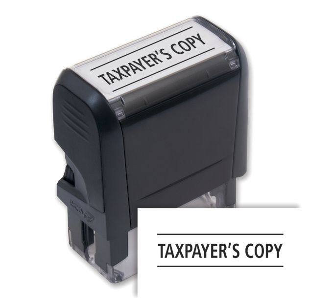 103015-Taxpayer's Copy Stamp - Self-Inking103015