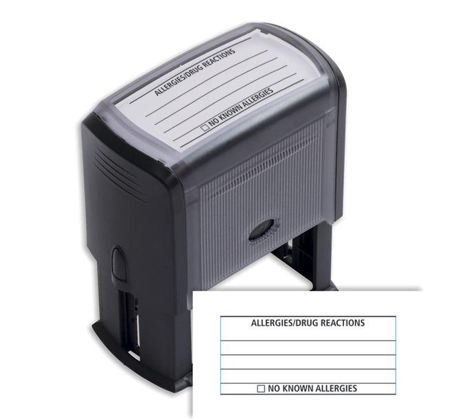 103017-Allergies/Drug Reactions w/ lines Stamp - Self-Inking103017