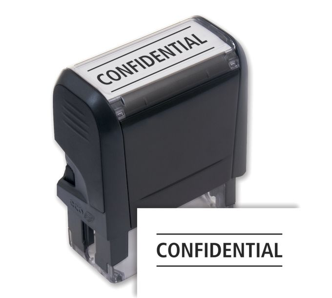 103027-Confidential Stamp - Self-Inking103027