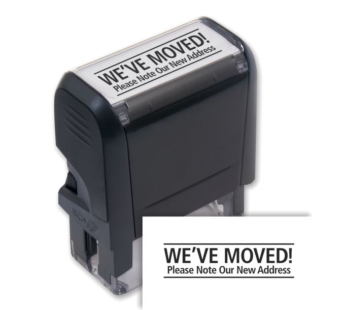 103031-We've Moved! Stamp - Self-Inking103031