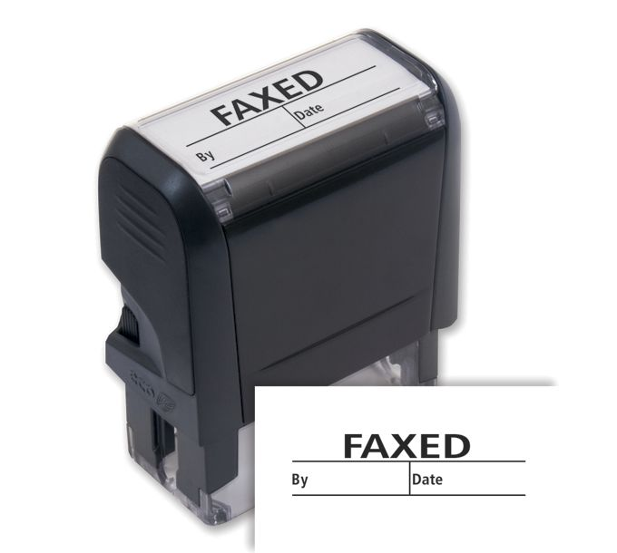 103049-Faxed w/ boxes Stamp - Self-Inking103049