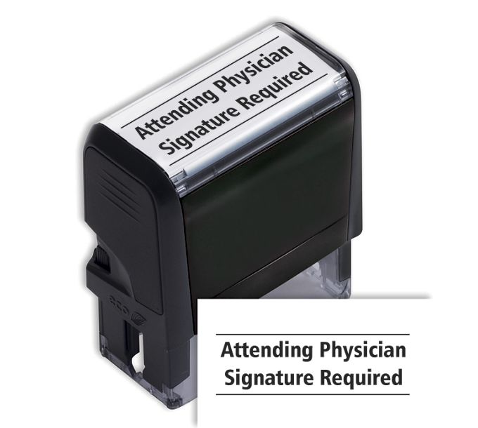 SI Attending Physician Signature Required Stamp103055