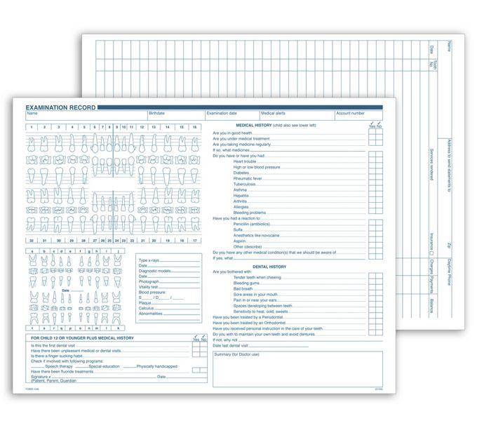 1046-Dental Exam Record, Multi-Use1046