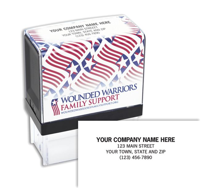 Wounded Warrior Stamp,  Self-Inking105001