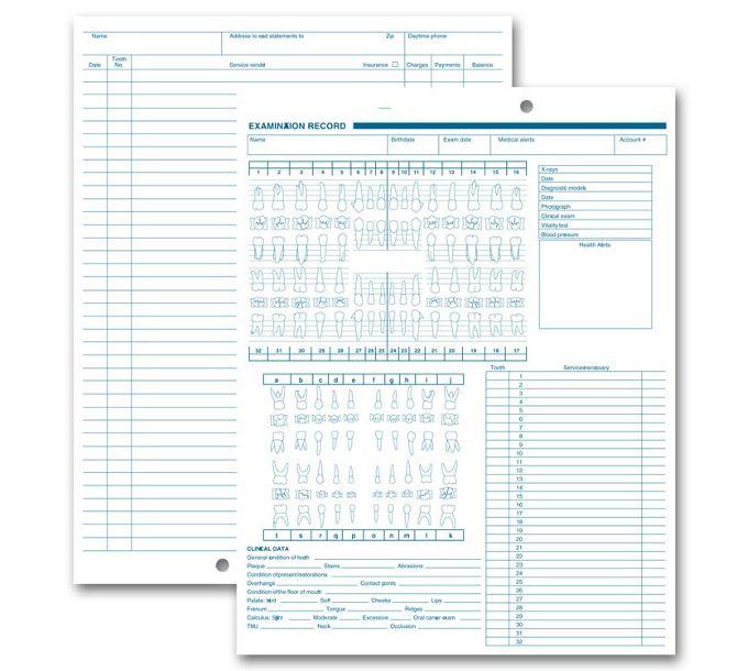 1057V-Dental Exam Record, Anatomic & Periodontic Diagrams1057V