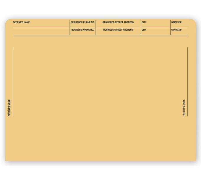 1075-File Pocket Envelopes, 40lb. Kraft, Pre-Printed1075