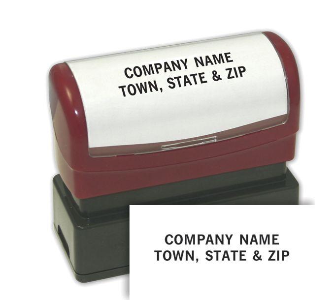 1132336-2 Line Custom Stamp - Pre-Inked Stamp1132336