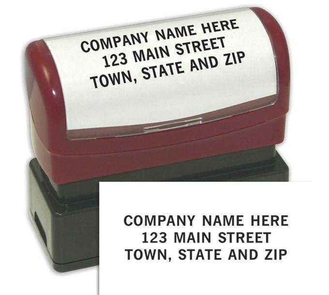 1132339-3 Line Custom Stamp - Pre-Inked Stamp1132339