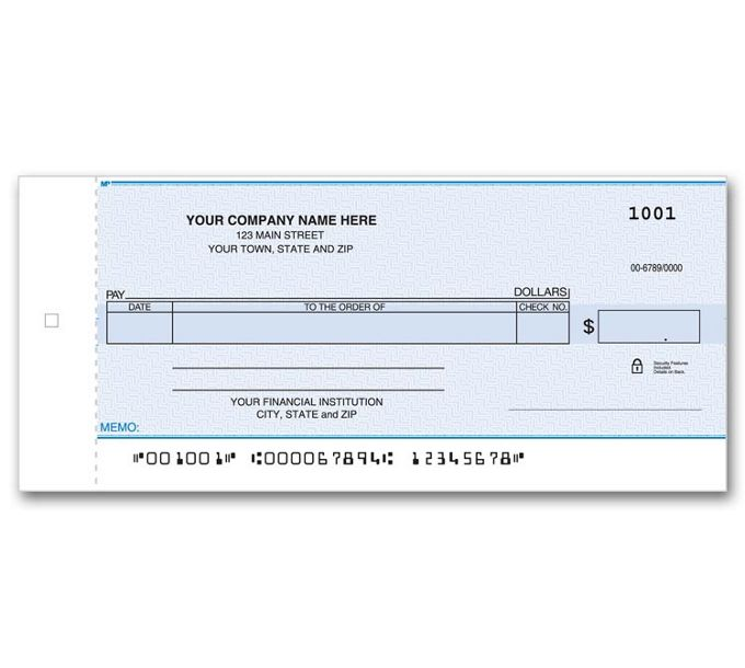116NC-Personal Size One Write Check116NC