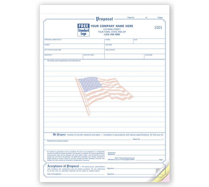 118FLG-Proposals - Classic with Flag Design118FLG