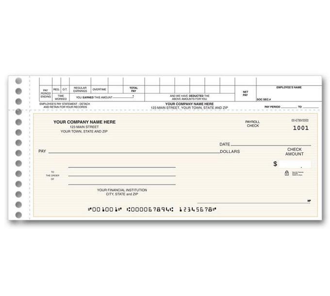 Topwrite Payroll Check125011N