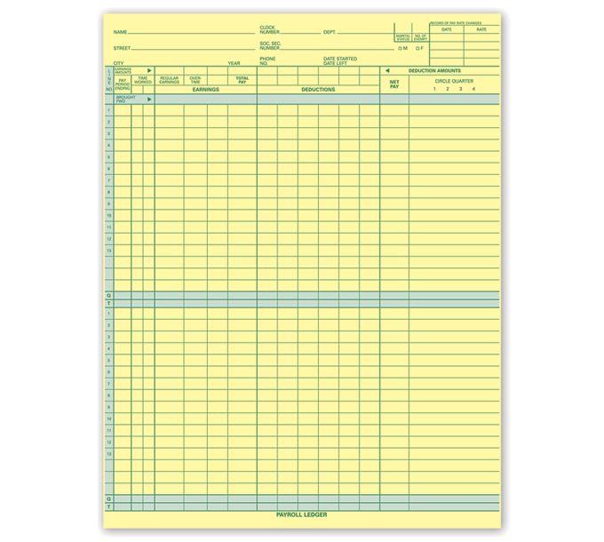 Topwrite Payroll Ledger125031N