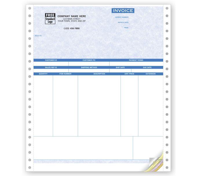 Product Invoices, Continuous, Parchment13340G