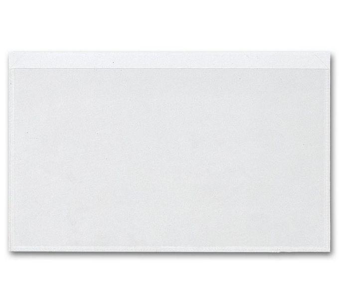 "Adhesive Transparent File Pockets, 8"" x 5""140"