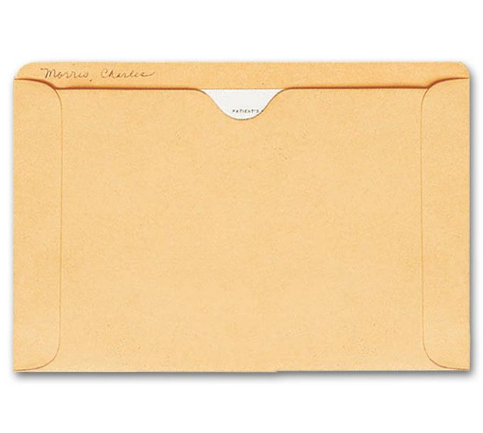 1419-Straight Tab Card File Pocket, 5 1/2 x 8 1/8, Buff1419