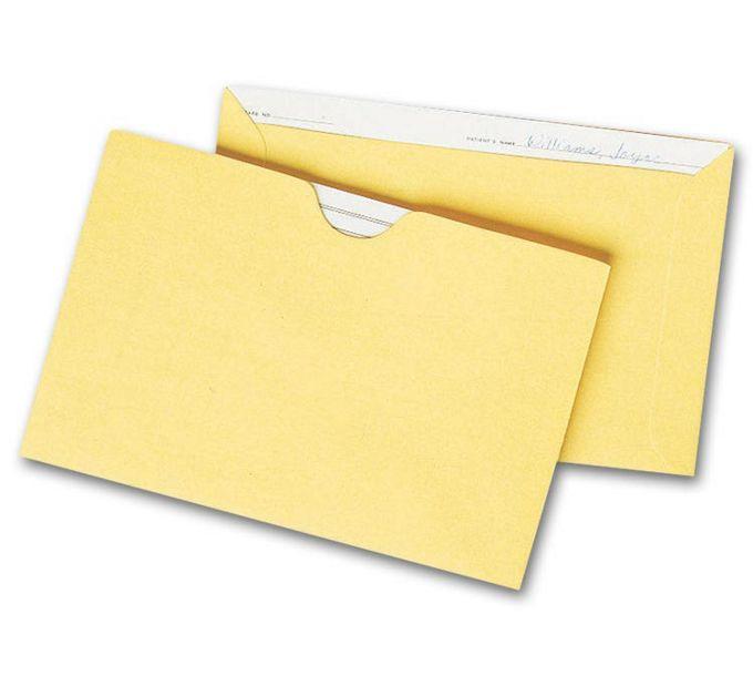 "1421-Straight Tab Card File Pocket, 4 1/8"" x 6 1/8"", Buff1421"