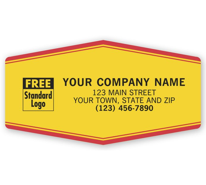 1511-Tuff Shield Service Labels, Laminated , Yellow with Red1511