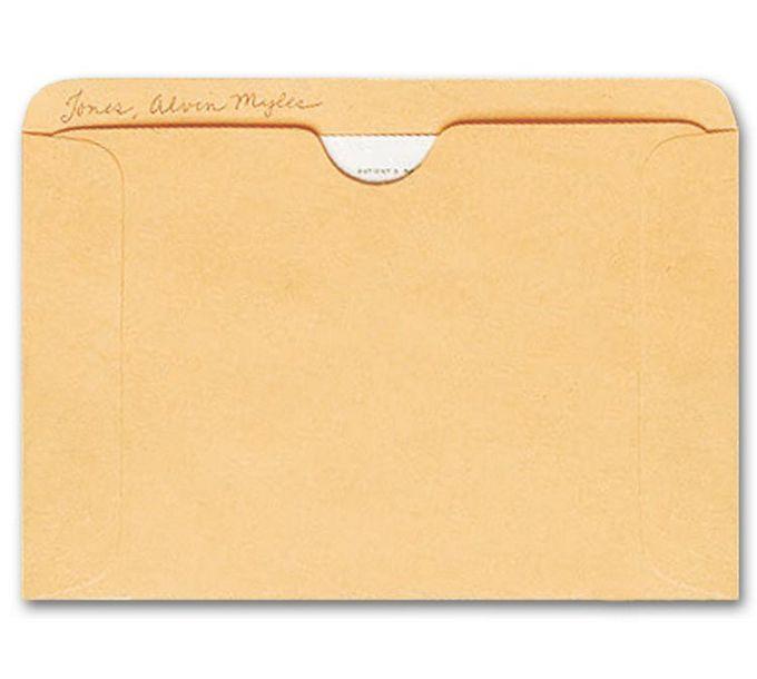 1643-Straight Tab Card File Pocket, 4 1/2 x 6 1/8, Buff1643